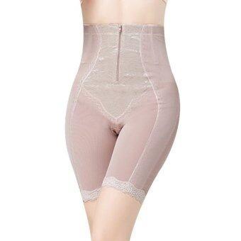 Perfect shape ซิปหน้า กางเกงกระชับสัดส่วน (ยาวคลุมสะดือ ซิปหน้า ด้านในเป็นตะขอ ถอดง่าย) (สีเนื้อ)