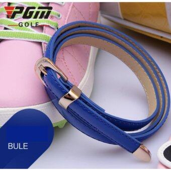 EXCEED LADY GOLF BELT DARK BLUE COLOUR เข็มขัดหนังนักกอล์ฟผู้หญิง PGM (PD008) สีน้ำเงิน