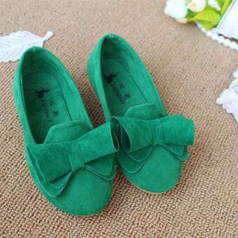 เด็กผู้หญิงน่ารัก ๆ รองเท้าผ้าใบทรงเรียบ ๆ แฟลต Loafers