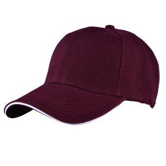 แฟชั่นหมวกเบสบอล 2559 Snapback WinterAutum หมวกหมวกแบนกระดูกสะโพกกระโดดสำหรับผู้ชาย & ผู้หญิง (เหล้าองุ่น)