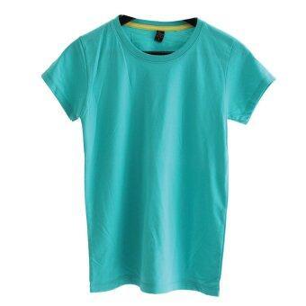 Chahom เสื้อยืดคอกลม (สีเขียวทิฟฟานี่)
