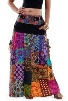 Princess of asia กระโปรงยาวผ้าต่อ กระโปรงผ้าเนปาล กระโปรงฮิปปี้ กระโปรงโบฮีเมียน