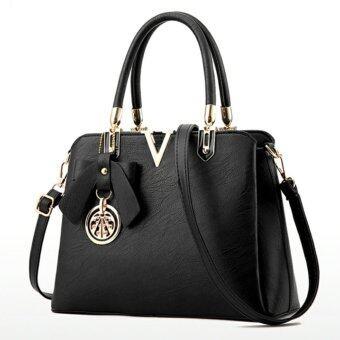 Little Bag กระเป๋าถือ กระเป๋าแฟชั่น กระเป๋าสะพายพาดลำตัว รุ่น LB-076 (สีดำ)