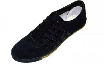 Mashare รองเท้าผ้าใบแฟชั่น มาแชร์รุ่น รองเท้าฟุตซอล AC สีดำล้วน futsal