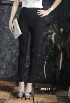 Platinum Fashion กางเกงขายาวเอวสูง ผ้ายืด ทรงสกินนี่ รุ่นMS107