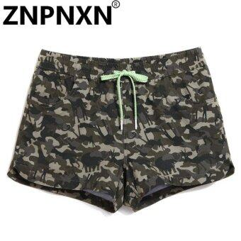 Harga ZNPNXN Fashion Woman Leisure Shorts Board Boxer Trunks Shorts Casual Short Bottom Lady Summer Boxers Quick Drying Boardshorts (Color:As First Picture) - intl