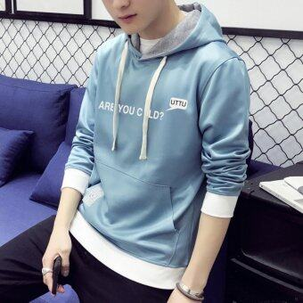 Harga 2017 New arrival top quality cartoon cotton hooded casual brand young men hoodies luxury male spring autumn winter fashion sweatshirts (Blue) - intl