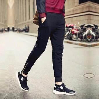 Save กางเกงวอมขายาว ขาแต่งซิบ (สีดำ) รุ่น 118