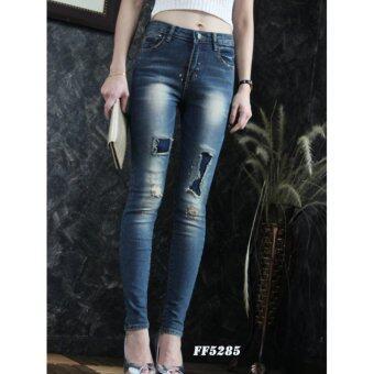 FIREFLYกางเกงยีนส์ขายาว แต่งขาด ๆ สวยมากๆ รุ่น FF5285