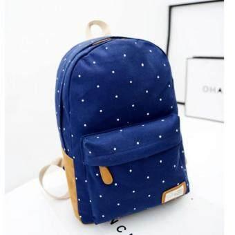 Premium Bag กระเป๋าเป้สะพายหลัง กระเป๋าเป้เกาหลี รุ่น PB021(สีน้ำเงิน)
