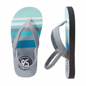 OSHKOSH รองเท้าแตะเด็ก ลาย Striped Logo
