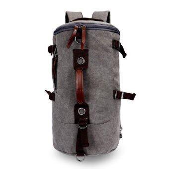 Keystone กระเป๋าเป้ Canvas แนว Retro Casual & Sport สีเทา