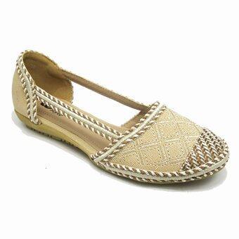 Miqa IQ Style รองเท้าแฟชั่น สตรี รุ่น L9-AT6104 (Apricot)