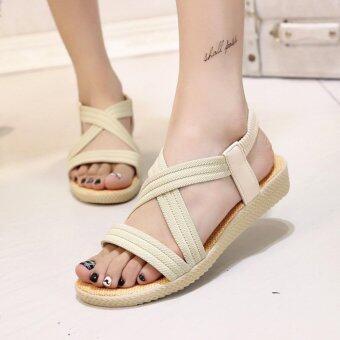ขาย Women Summer Flat Sandals Shoes Open Toe Beach Flip Flops Slipper Sandal-white – intl จากแบรนด์ Unbranded/Generic ราคาถูก