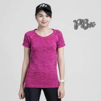 PBx - Exercise Lady T Shirt -เสื้อออกกำลังกาย ฟิตเนท ปั่นจักรยาน พิลาทิสสำหรับผู้หญิง สีชมพู