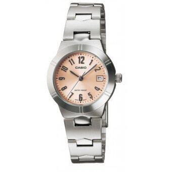 Casio นาฬิกาข้อมือ รุ่น LTP-1241D-4A3 (Silver/Pink)