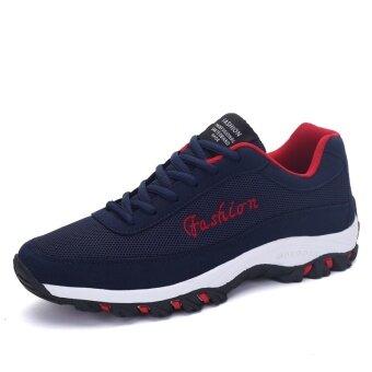 แฟชั่นผู้ชายรองเท้าวิ่งรองเท้ากีฬายางระบายอากาศเบาตาข่ายรองเท้าผ้าใบของพวกสันทนาการกลางแจ้ง