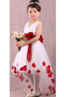 กลีบดอกไม้คนฉลองพระองค์ชุดพิธีการชุดแฟนซีแฟนตาซี