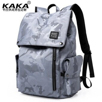 Harga SNG-store KAKA Camouflage Backpack Travel Backpack Casual Laptop Computer Bags Business Bags School Bags (Grey) - intl