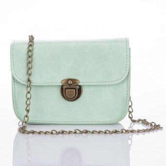 Premium Bag กระเป๋าแฟชั่น กระเป๋าสะพายข้าง รุ่น PB-003 (สีเขียว)