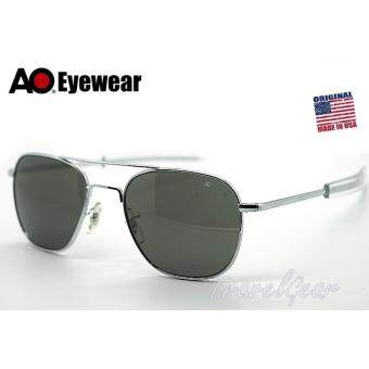 แว่นกันแดด AO Eyewear รุ่น Original Pilot 57 mm.Silver (Black Lens)