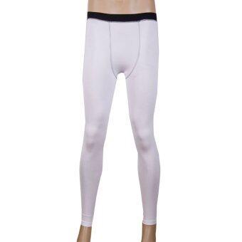 กีฬาออกกำลังกายวิ่งอัดสุขาถุงน่องกางเกงสกินนี่กางเกงเพาะกายขาว