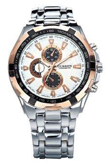 BlueLans นาฬิกาข้อมือสายเหล็กรัดกีฬา (เงิน)