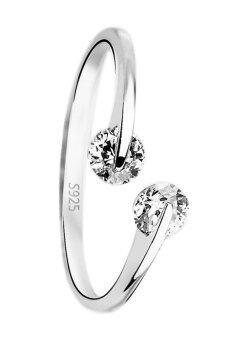 Fancyqube Fashion เงินแหวนแหวนแหวนจานท้ายเปิดอารมณ์สามารถปรับลดสินค้าเครื่องประดับเงิน