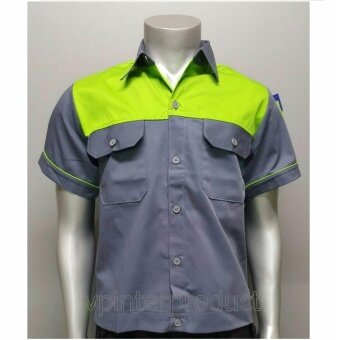 เสื้อช่างแอร์ เสื้อช่างไฟฟ้า เสื้อทำงาน Size L รอบอก 44 นิ้ว