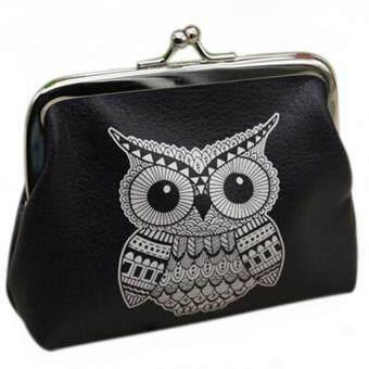 สตรีแฟชั่นกระเป๋าสตางค์ที่เก็บบัตรมินินกฮูกเคสกระเป๋าถือกระเป๋าเงินเหรียญคลัตช์นกฮูก