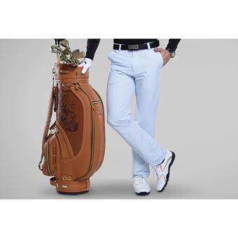 EXCEED MEN's GOLF PANTS PGM ( WHITE ) กางเกงกอล์ฟขายาว สีขาว KUZ004
