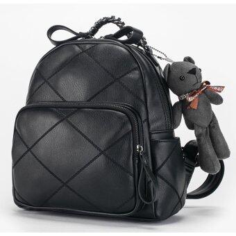 AXIXI กระเป๋าเป้แฟชั่น Teddy Bag สีดำ