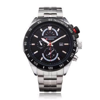 Curren นาฬิกาข้อมือสุภาพบุรุษ สายสแตนเลส รุ่น C8148 - BLack