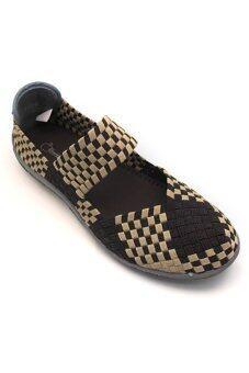 ALISA Shoes รองเท้าผ้าใบแฟชั่นสปอร์ต F700 - Coffee Beige