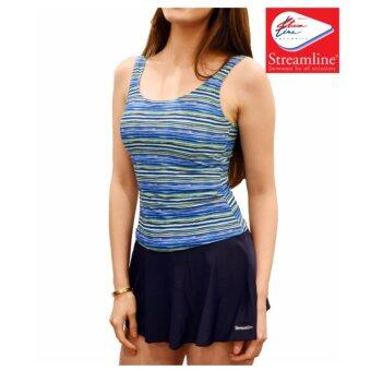 STREAMLINE ชุดว่ายน้ำสตรี 1 ชุด มี 2 ชิ้น กระโปรงมีกางเกงขาเว้าด้านใน
