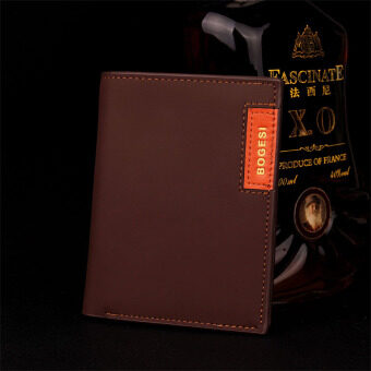 Harga Baellerry Men Wallet Fashion Pu Man Purse with Zip Coin Bag Color Coffee