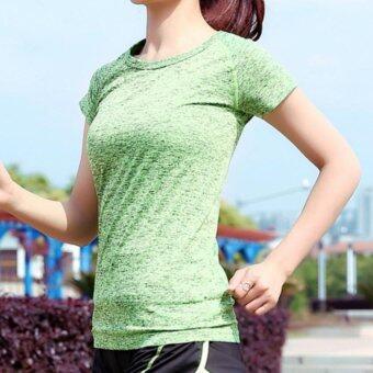 Dolly เสื้อออกกำลังกายผู้หญิง แขนสั้น รุ่นA443 (สีเขียว)
