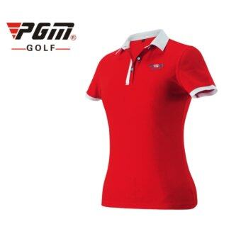 EXCEED GOLF LADY SHIRT RED COLOUR เสื้อกอล์ฟสุภาพสตรีแขนสั้น PGM สีแดง (YF038)