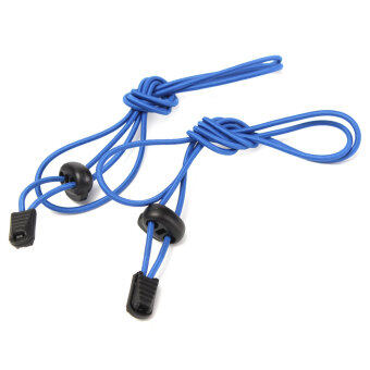 Harga 1 Pair Elastic No-Tie Lock Laces Shoelaces Strings With Fastener For Sport Shoes blue - Intl