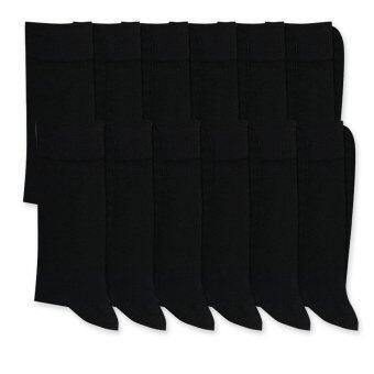 Dsox ถุงเท้าชาย 12 คู่ - สีดำ