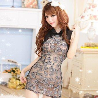 Harga Brand MeiNiang sexy lingerie uniform seduction suit cheongsam women's Classic Lace Sexy Lace pajamas 1014 - intl