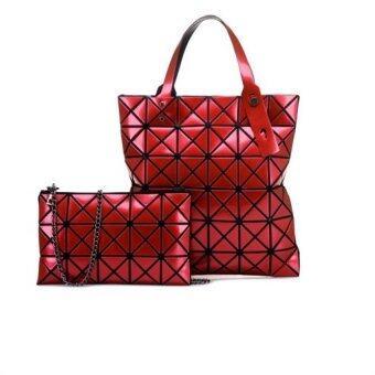 Open Surprise กระเป๋าแฟชั่น สำหรับถือและสะพายไหล่ รุ่นht (สีแดง) แพ็คคู่