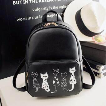 Little Bag กระเป๋าเป้เกาหลี กระเป๋าสะพายหลังผู้หญิง กระเป๋าแฟชั่น backpack women รุ่น LP-142 (สีดำ)