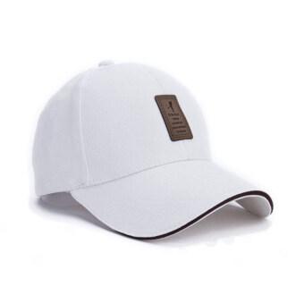 นิวแฟชั่นหมวกเบสบอลกีฬา 2559 เพศ Snapback กอล์ฟหมวกแข็งสำหรับคนกระดูก (ขาว)