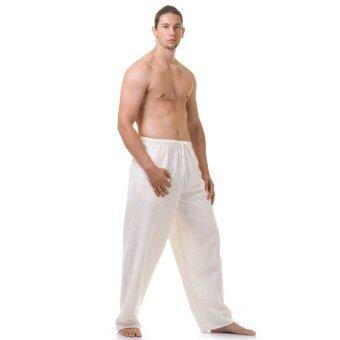 Princess of asia กางเกงผ้าฝ้ายหนา กางเกงกังฟู (สีขาว)