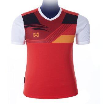 WARRIX SPORT เสื้อฟุตบอลพิมพ์ลาย WA-1524 ( สีแดง-ขาว )