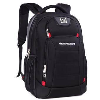 Aspensport กระเป๋าเป้สะพายหลัง รุ่น AS-B22 วัสดุกันซึมน้ำ - สีดำ