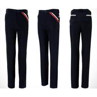 EXCEED กาเกงกอล์ฟสำหรับสุภาพบุรุษ PGM ( สีกรมท่า ) New PGM Golf Men's Pants Autumn Clothes High Elastic Trousers Quick Drying Thin Pants Plus Size XXS 3XL 98%Polyester (Navy blue)