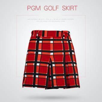 EXCEED กระโปรงกอล์ฟสำหรับสุภาพสตรี PGM RED COLOUR (QZ007) สีแดง