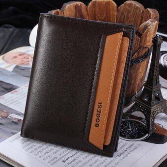 Matteo กระเป๋าเงิน กระเป๋าสตางค์ ผู้ชาย แยกชิ้น BOGESI (สีน้ำตาล)
